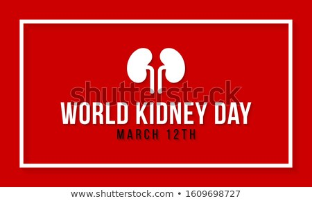 Stock photo: World kidney day with frame. Vector illustration