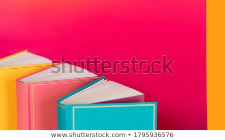 Back cover of a book with a yellow blank label. Stock photo © Photooiasson