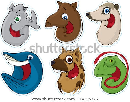 Smiling Face Fridge Magnet/Stickers #7 (Animals) Stock photo © robStock