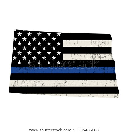 North Dakota policji wsparcia banderą ilustracja Zdjęcia stock © enterlinedesign