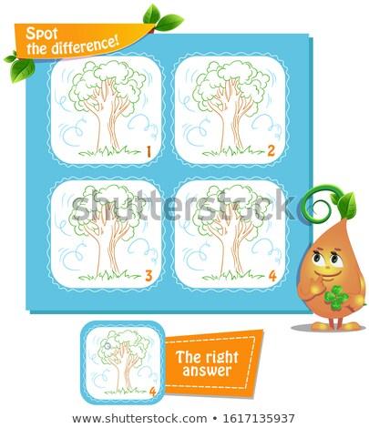 Spot fark ağaç rüzgâr oyun çocuklar Stok fotoğraf © Olena