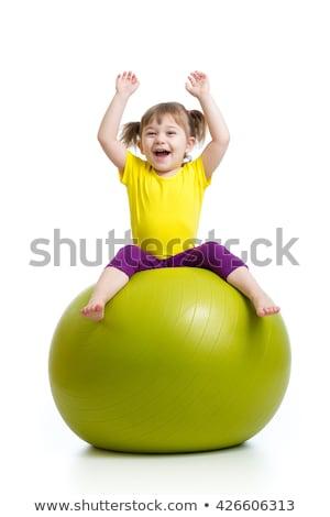Atléta gimnasztikai labda fehér illusztráció nő Stock fotó © bluering