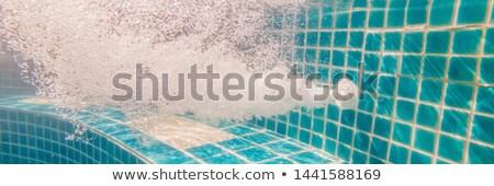 água piscina trabalhando drenar bandeira Foto stock © galitskaya