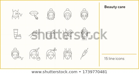 Hair Losing Icon Vector Outline Illustration Stock photo © pikepicture