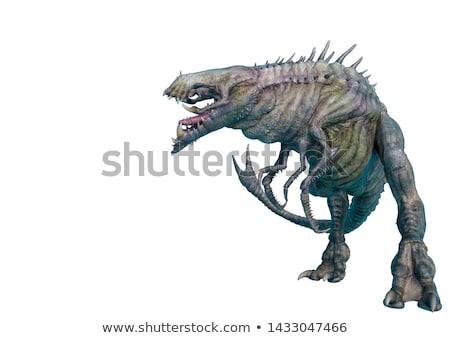 Monstro caranguejo demoníaco assustador enorme garra Foto stock © ensiferrum