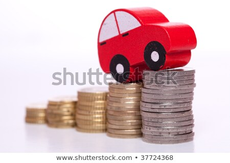 Czerwony samochodu monet strony jazdy Zdjęcia stock © AndreyPopov