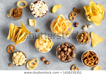 кренделек кольцами натюрморт кольца еды Сток-фото © grafvision