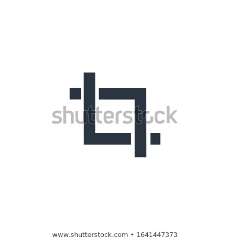 Crop trim tool flat sign design. can be used for apps web software etc. Stock Vector illustration is Stock photo © kyryloff