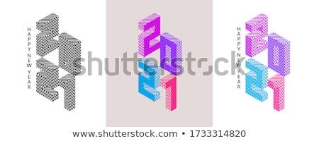 Chinese symbols - modern colorful isometric icons set Stock photo © Decorwithme