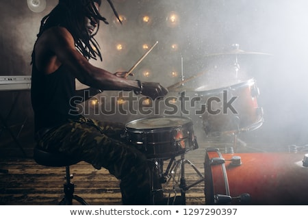 Guy drummer at drum set Stock photo © jossdiim