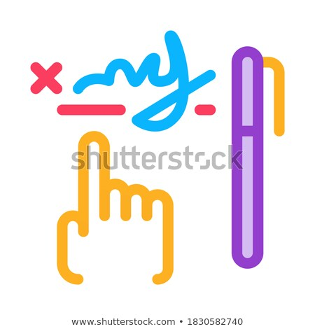 почерк графический анализ икона вектора Сток-фото © pikepicture