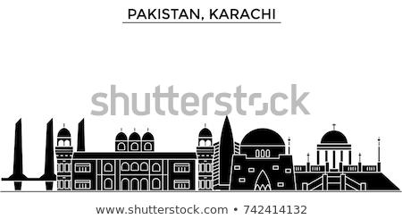 Karachi skyline grigio cielo blu turismo Foto d'archivio © ShustrikS