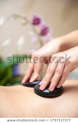 Massage arts hot lava stenen spa Stockfoto © boggy