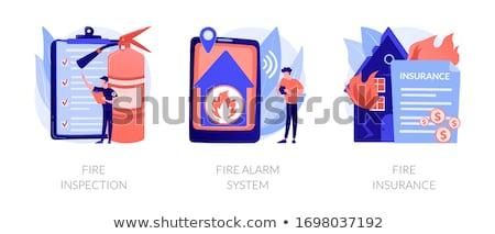 Firefighting vector concept metaphors Stock photo © RAStudio