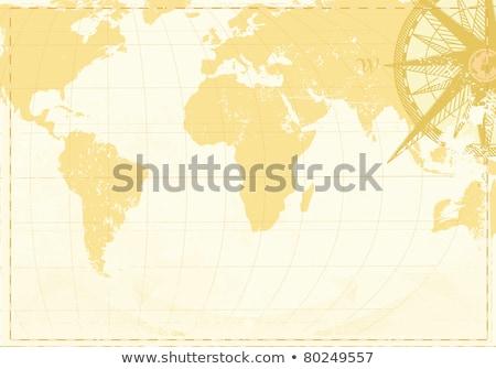 vintage · kompas · oude · kaart · vector · Papierstructuur - stockfoto © oblachko