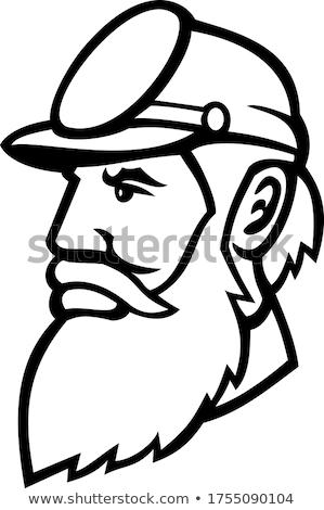 一般的な 頭 マスコット 黒白 実例 司令官 ストックフォト © patrimonio