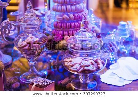 Francês bolo tabela comida cor rosa Foto stock © ruslanshramko