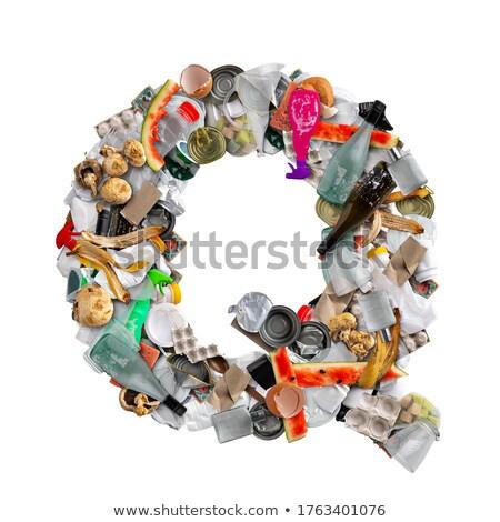 буква q мусор изолированный белый продовольствие фрукты Сток-фото © grafvision