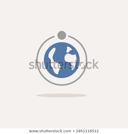 Moon rotation around the Earth. First quarter phase. Icon. Weather vector illustration Stock photo © Imaagio