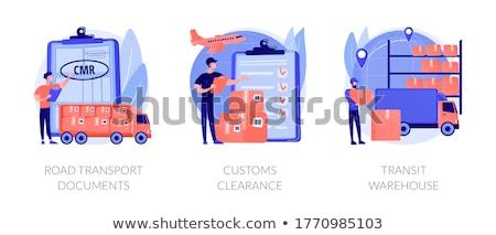 インポート 法的 パーミッション 抽象的な ベクトル ストックフォト © RAStudio