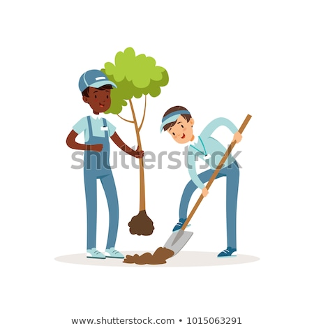 Plant Seedling, Volunteer Planting Tree Vector Stock photo © robuart