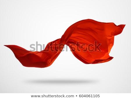 Tulle fabrics on red, background Stock photo © RuslanOmega