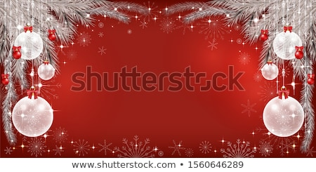 snowflakes with red and black bulbs stock photo © orson