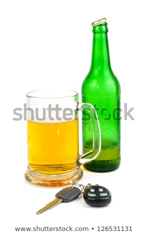 car keys in beer pint glass Stock photo © morrbyte