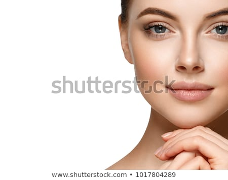 closeup on beautiful face stock photo © anna_om