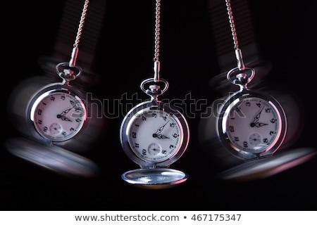 Ver reloj de bolsillo tecnología tiempo cadena oro Foto stock © AlphaBaby