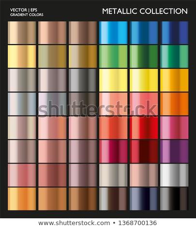 Ayarlamak renk inci soyut cam yeşil Stok fotoğraf © vtorous
