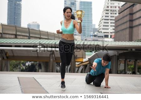 неудачник женщину знак стороны смешные Сток-фото © piedmontphoto