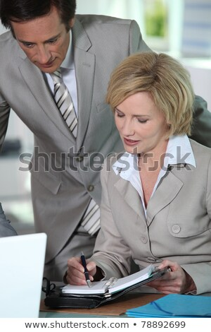 business couple putting a date in the diary stock photo © photography33