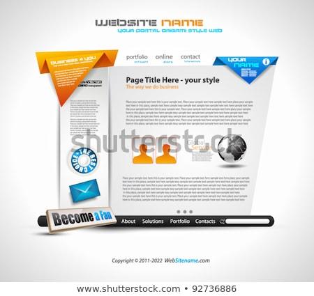 design · infographie · société · Ouvrir · la - photo stock © davidarts