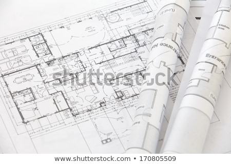 architecte · travail · blueprints · main · crayon · dessin - photo stock © janpietruszka
