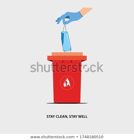 world in dustbin Stock photo © pkdinkar