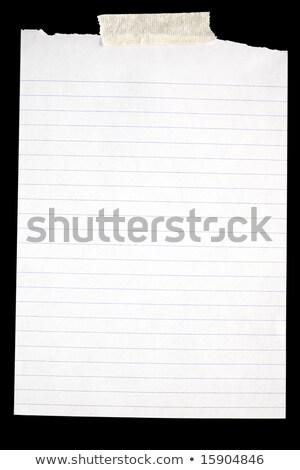 öreg szakadt fehér papír leragasztott fekete Stock fotó © latent