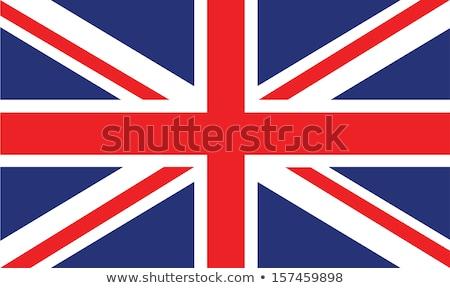 британский флаг флаг Гранж эффект текста набор Сток-фото © naffarts