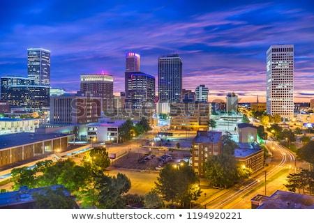 Оклахома Skyline отражение воды небе здании Сток-фото © Yurkaimmortal