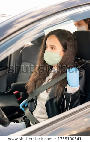 Retrato sessão mulher látex roupa Foto stock © phbcz