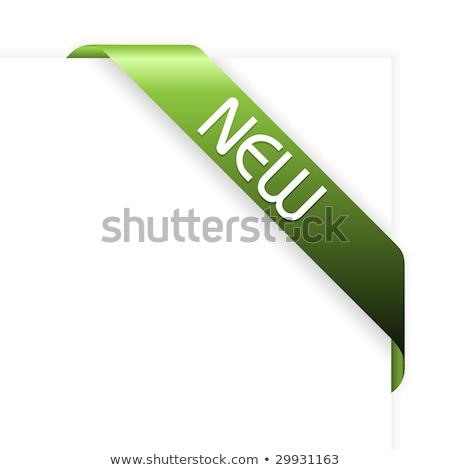 Grünen Ecke Band neue Stück Web Stock foto © orson