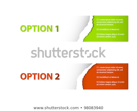 Set of  Vector  torn off Sample option stickers Stock photo © orson