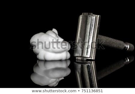 eldobható · borotva · üveg · test · terv · acél - stock fotó © prill