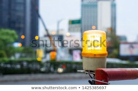 バリケード 光 建設現場 建設 安全 ストックフォト © manfredxy