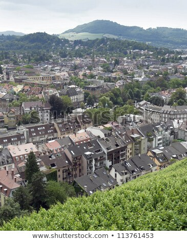 Stock photo: aerial view of Freiburg im Breisgau in sunny ambiance