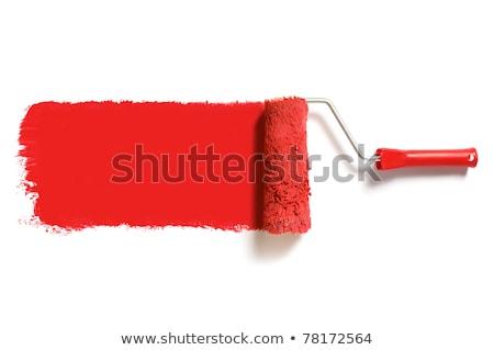Czerwony farby miejscu działalności ściany tle Zdjęcia stock © gladiolus