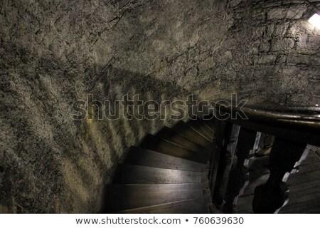 Stromy schody wieża kościoła kamień Zdjęcia stock © backyardproductions