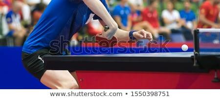 Masa tenisi Yunan sanat stilize oyuncular Stok fotoğraf © sahua
