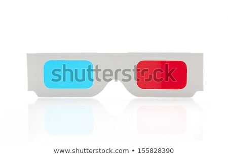 óculos · 3d · cinema · abstrato · tornar · papel · fundo - foto stock © stevanovicigor
