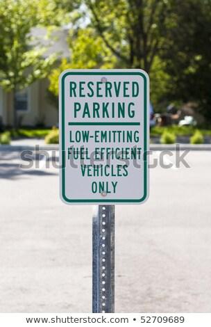 Carburant efficace parking signe image Photo stock © njnightsky